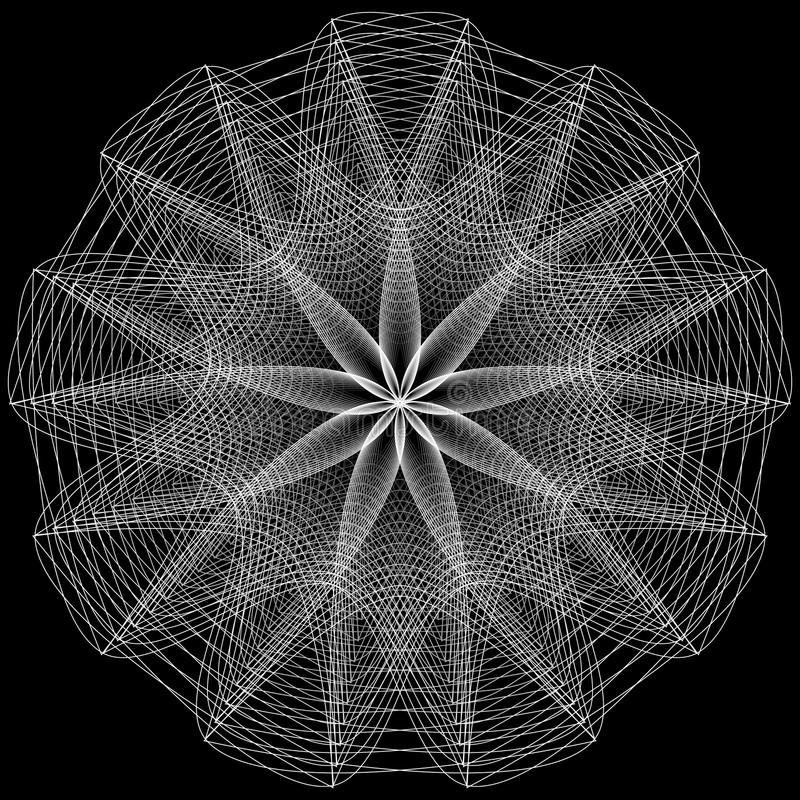 Muestras sagradas de la geometría Sistema de símbolos y de elementos Alquimia, religión, filosofía ilustración del vector