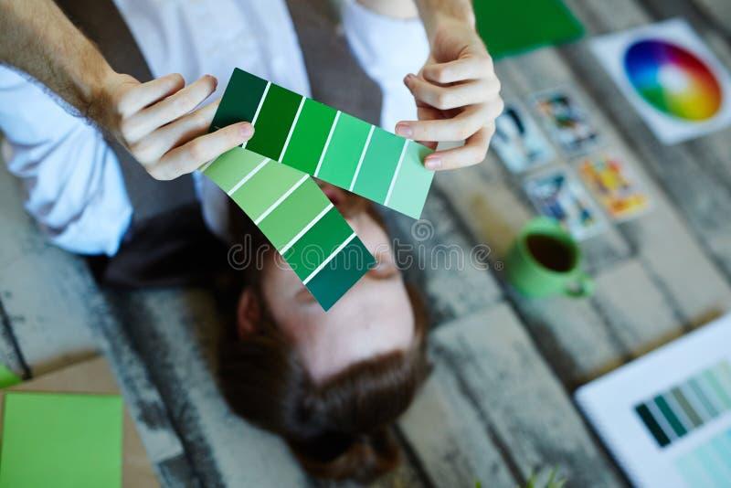 Muestras verdes fotos de archivo libres de regalías
