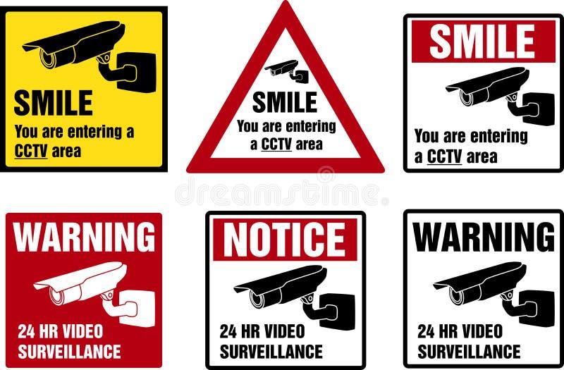 Muestras video de la vigilancia ilustración del vector