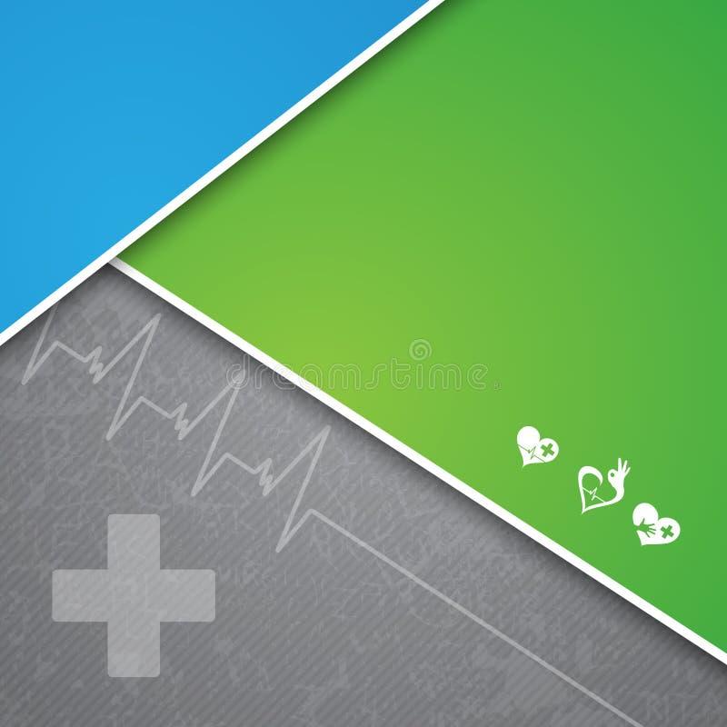 Muestras y fondo médicos stock de ilustración