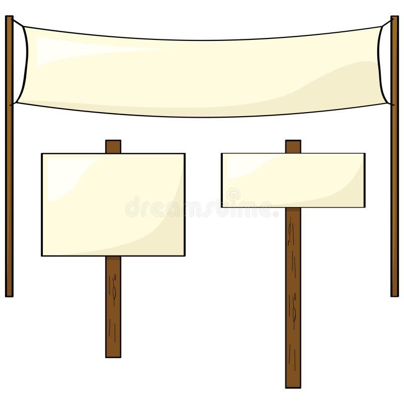 Muestras y postes stock de ilustración