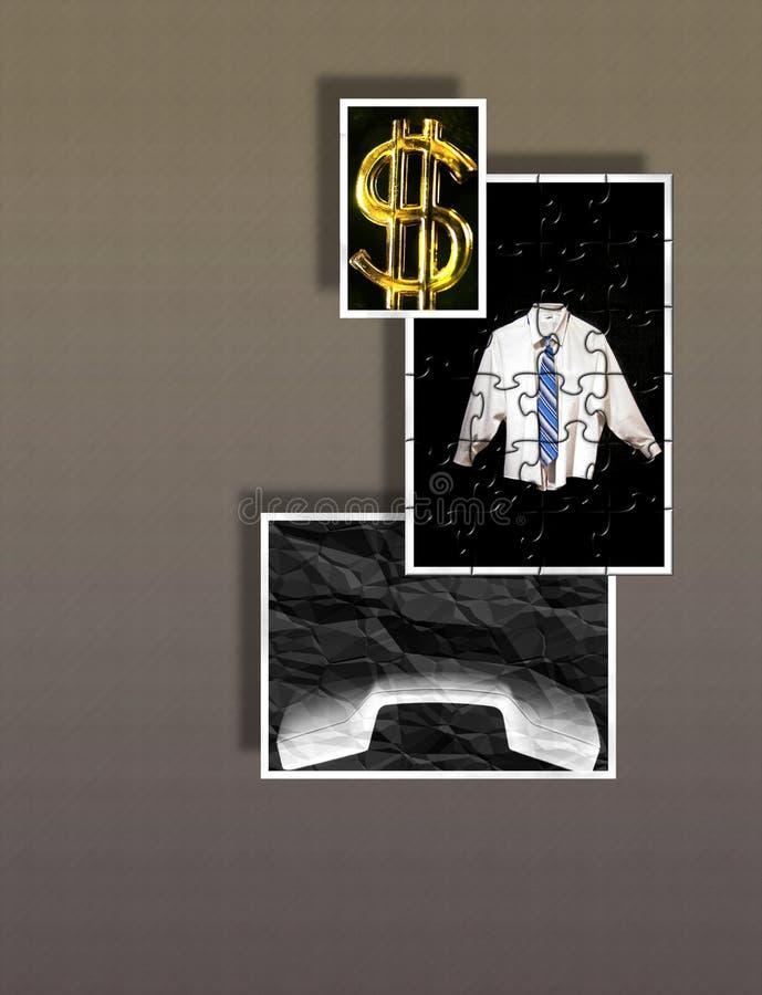 Muestras y símbolos de hacer el asunto - beneficios - rompecabezas ilustración del vector