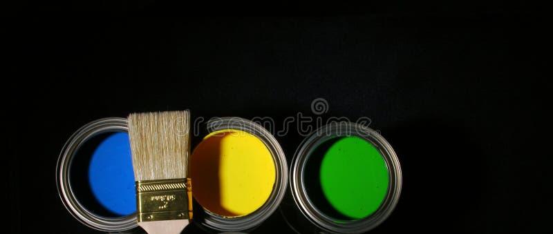 Muestras y símbolos de la pintura, color cambiante fotografía de archivo libre de regalías