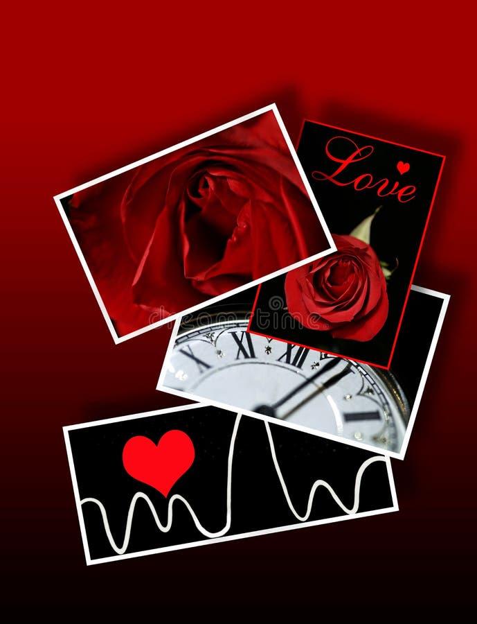 Muestras y símbolos del amor, tarjetas del día de San Valentín, romance libre illustration