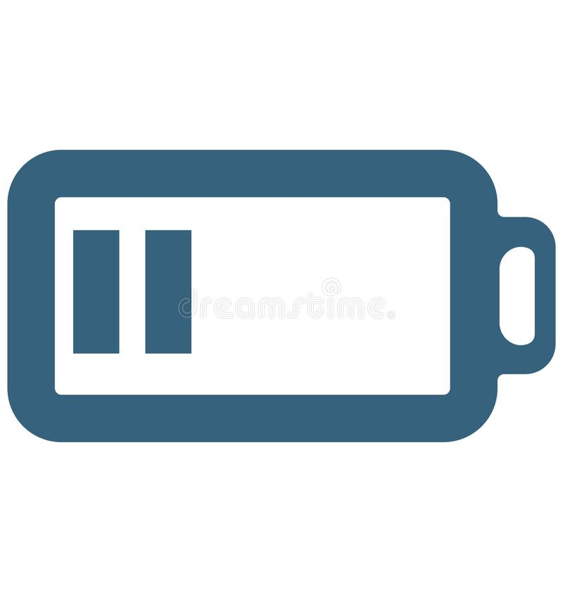 Muestras y símbolos especiales del icono del vector del glyph de las pilas de batería libre illustration
