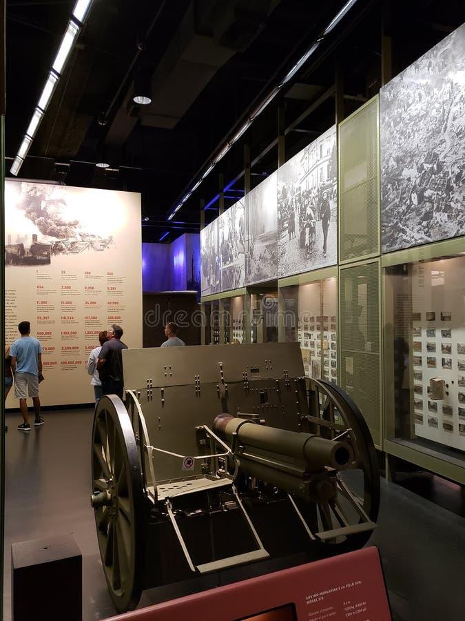 Muestre en el museo agradable Kansas Missouri de la Primera Guerra Mundial imagenes de archivo