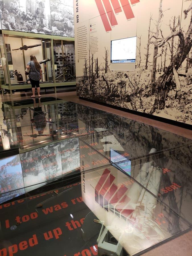 Muestre en la ciudad Kansas Missouri del museo de la Primera Guerra Mundial fotografía de archivo libre de regalías