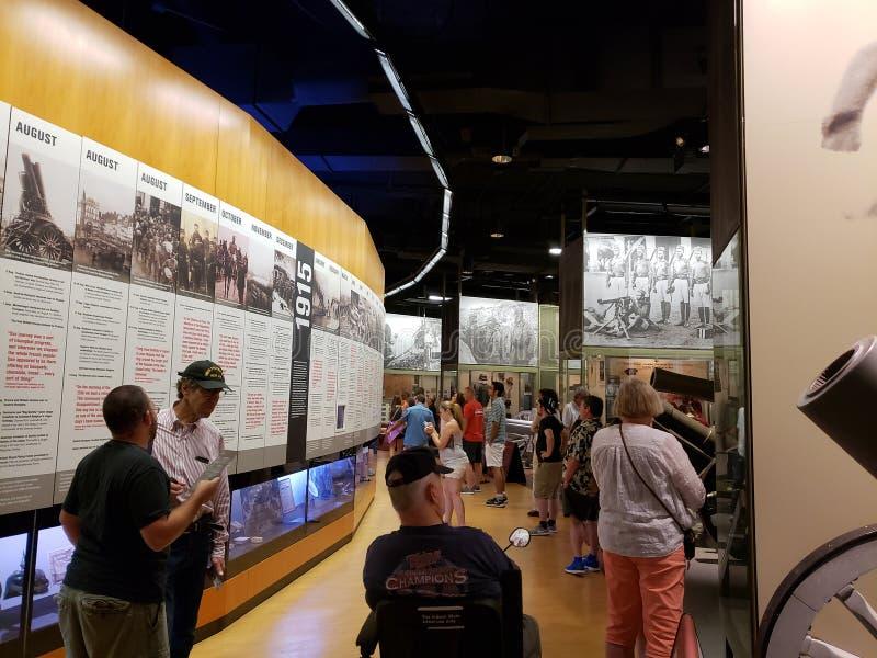 Muestre en la ciudad Kansas Missouri del museo de la Primera Guerra Mundial fotos de archivo