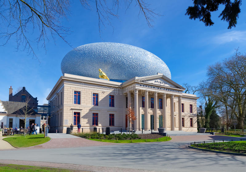 Mueum in zwolle, netherlands. ZWOLLE, NETHERLANDS - MARCH 22, 2015: Exterior of museum De Fundatie. It is built in neoclassical style between 1838 and 1841 royalty free stock photography