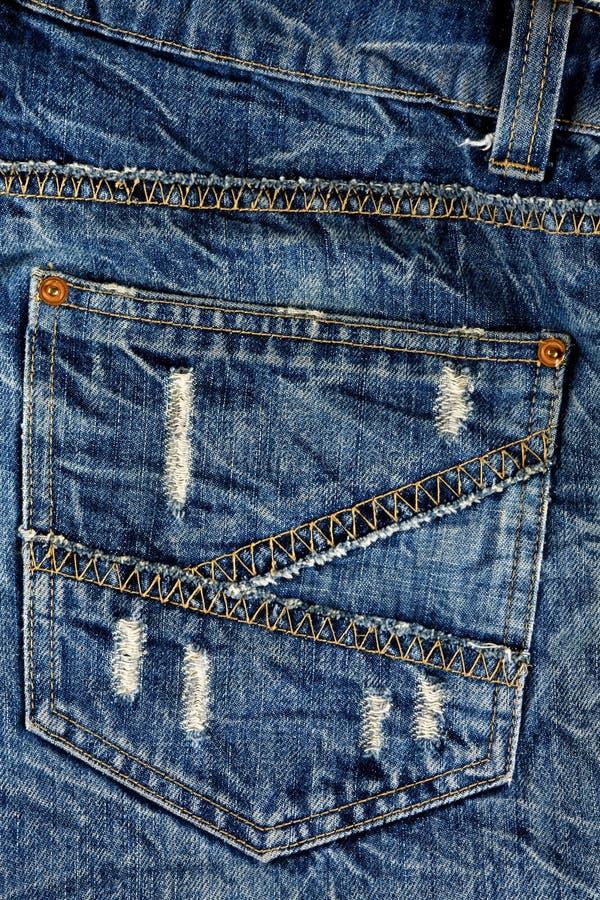 Mueva hacia atrás los pantalones vaqueros del bolsillo. fotos de archivo