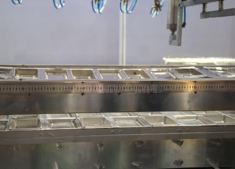 Muffa del vassoio di plastica eliminabile per il contenitore di alimento immagine stock