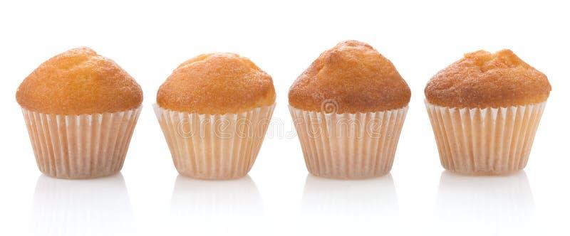 muffin κέικ λευκό στοκ φωτογραφία