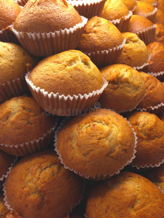 Muffin μπανανών κέικ στοκ εικόνες με δικαίωμα ελεύθερης χρήσης