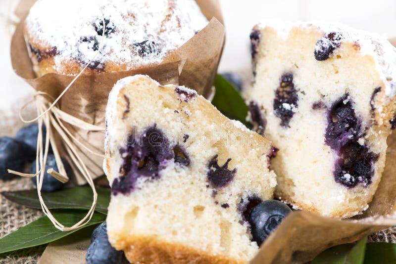Muffin ai mirtilli (macro colpo) fotografia stock