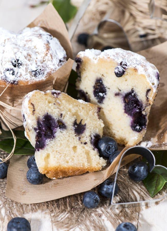 Muffin ai mirtilli (macro colpo) immagine stock libera da diritti