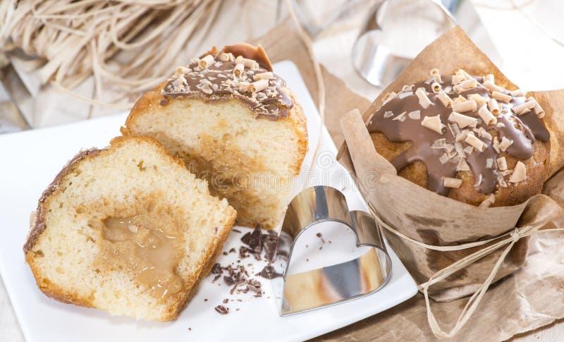 Muffin casalingo del caramello fotografia stock libera da diritti
