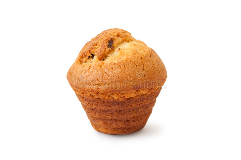Muffin with chocolate filling royalty free stock image