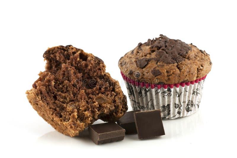Muffin com chocolate fotos de stock royalty free
