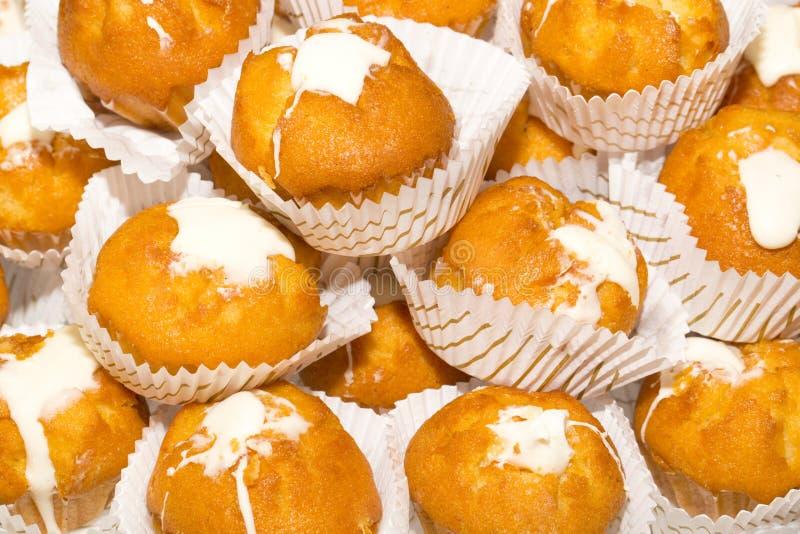Muffin con crema fotografia stock libera da diritti