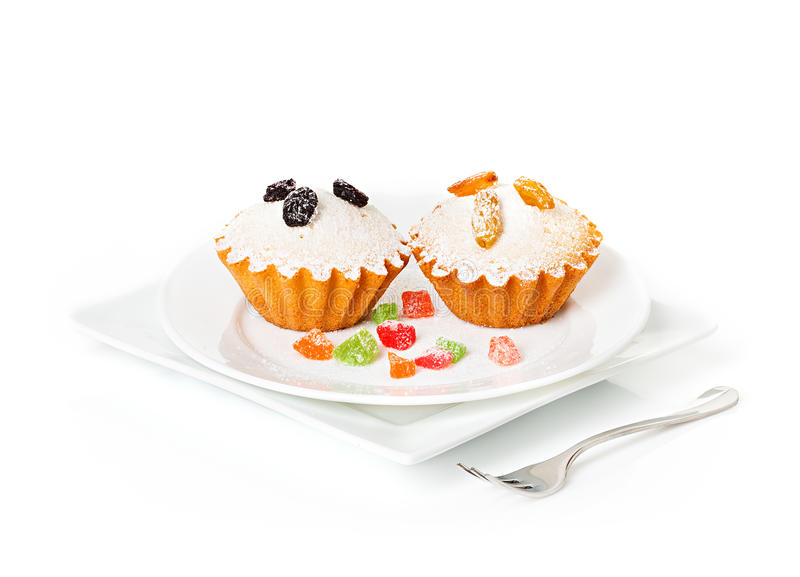 Muffin cupcake royalty-vrije stock foto's