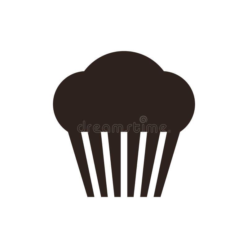 muffin Cupcakepictogram stock illustratie
