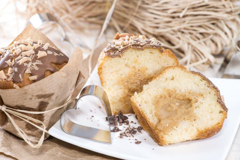 Muffin del caramello immagine stock