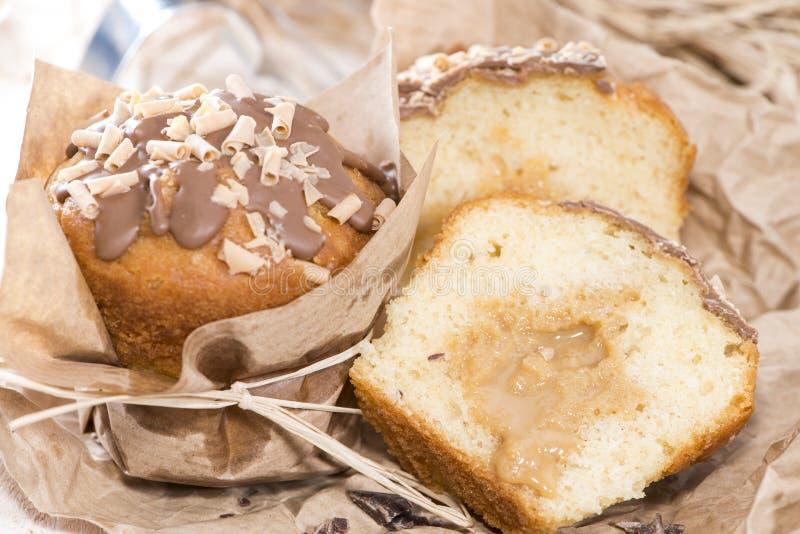 Muffin del caramello fotografie stock libere da diritti