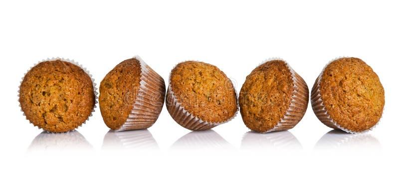 Muffin del dolce alle carote immagini stock