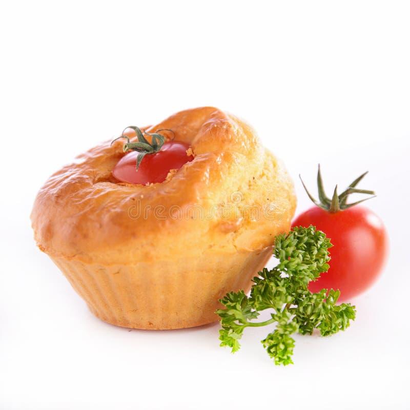 Muffin del pomodoro fotografia stock