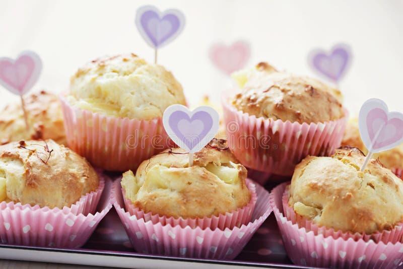 Muffin dell'ananas fotografia stock