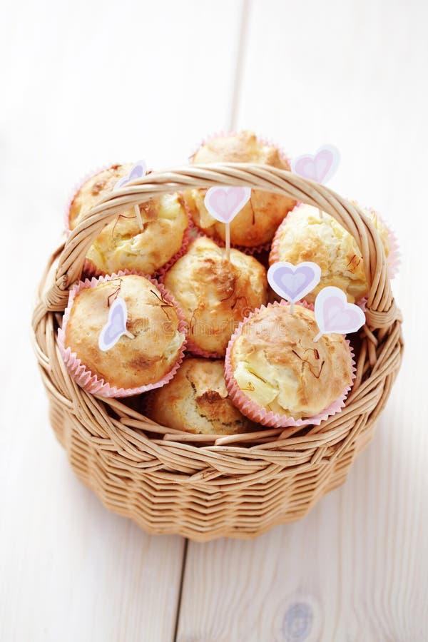 Muffin dell'ananas immagini stock