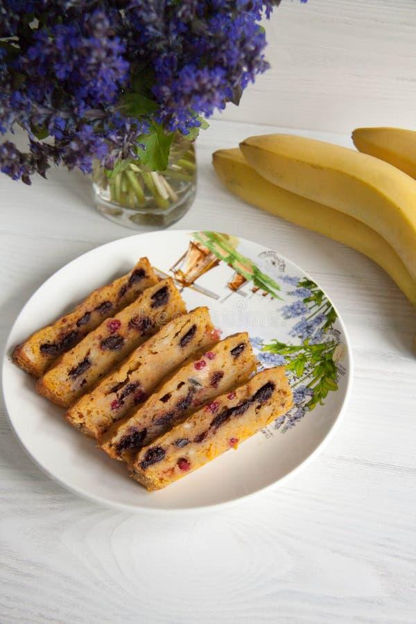 Muffin della carota e della banana fotografie stock libere da diritti