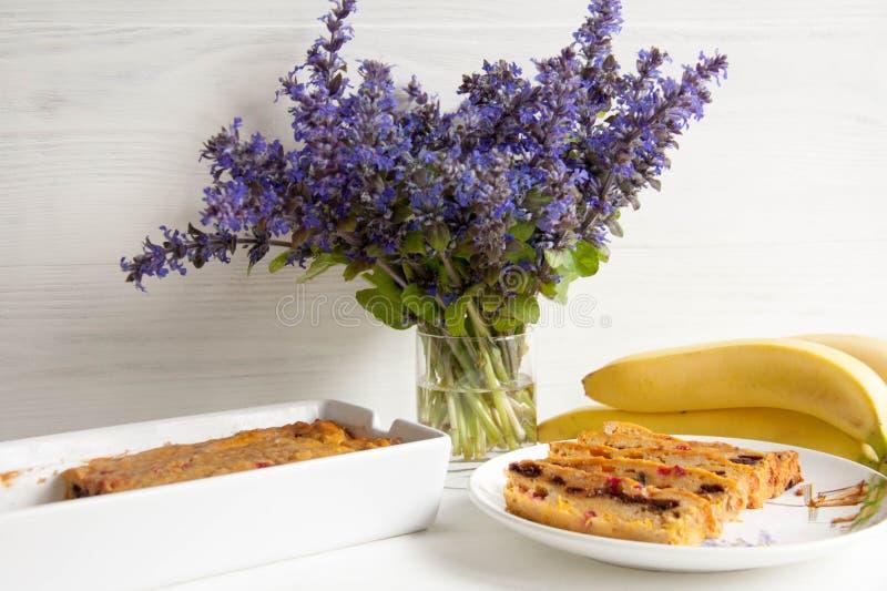 Muffin della carota e della banana fotografia stock