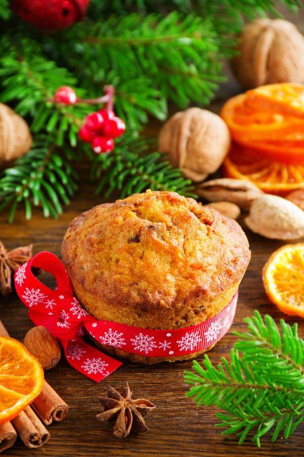 Muffin della carota e della zucca fotografia stock libera da diritti