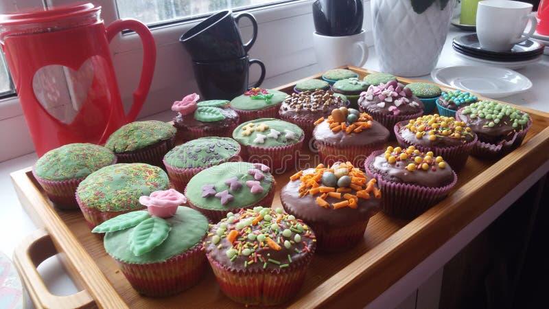 Muffin di Pasqua immagini stock libere da diritti