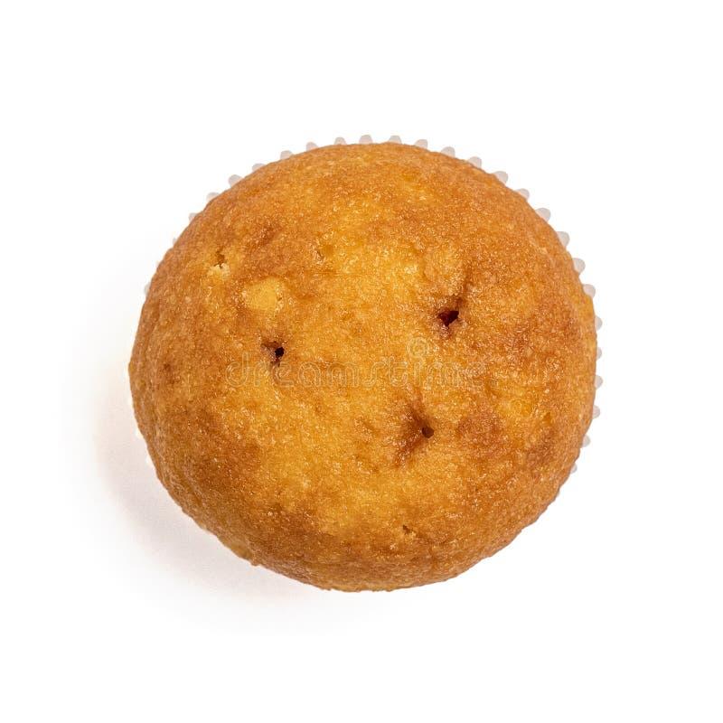 Muffin die op witte achtergrond wordt geïsoleerd Hoogste mening stock foto's