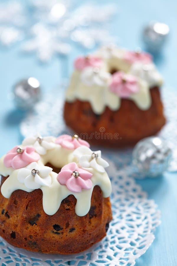 Muffin do bolo de frutas imagens de stock