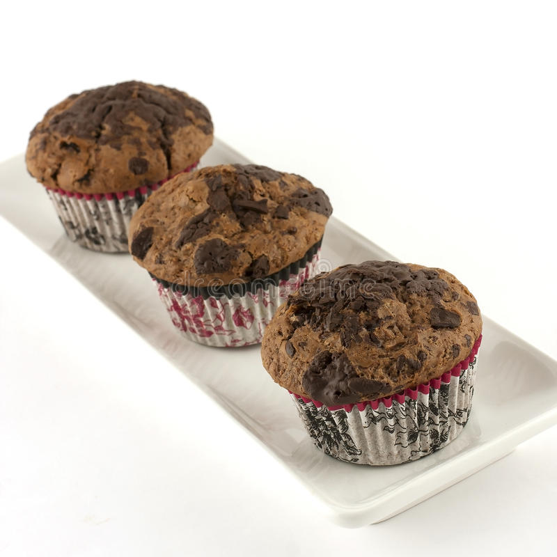 Muffin do chocolate imagens de stock royalty free