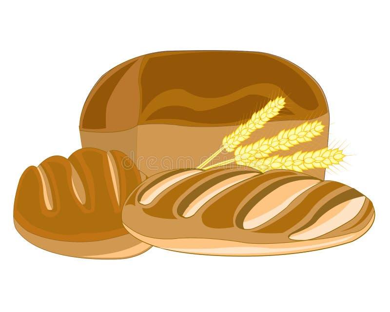 Download Muffin e pagnotta lunga illustrazione vettoriale. Illustrazione di greater - 56883795