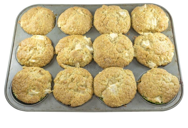 Muffin in een vorm stock foto