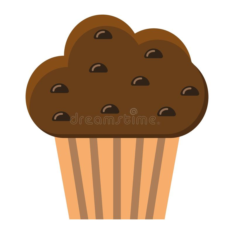 Muffin flat icon, food and drink, sweet sign stock illustration