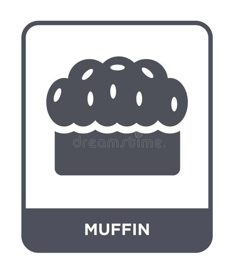 muffin icon in trendy design style. muffin icon isolated on white background. muffin vector icon simple and modern flat symbol for royalty free illustration