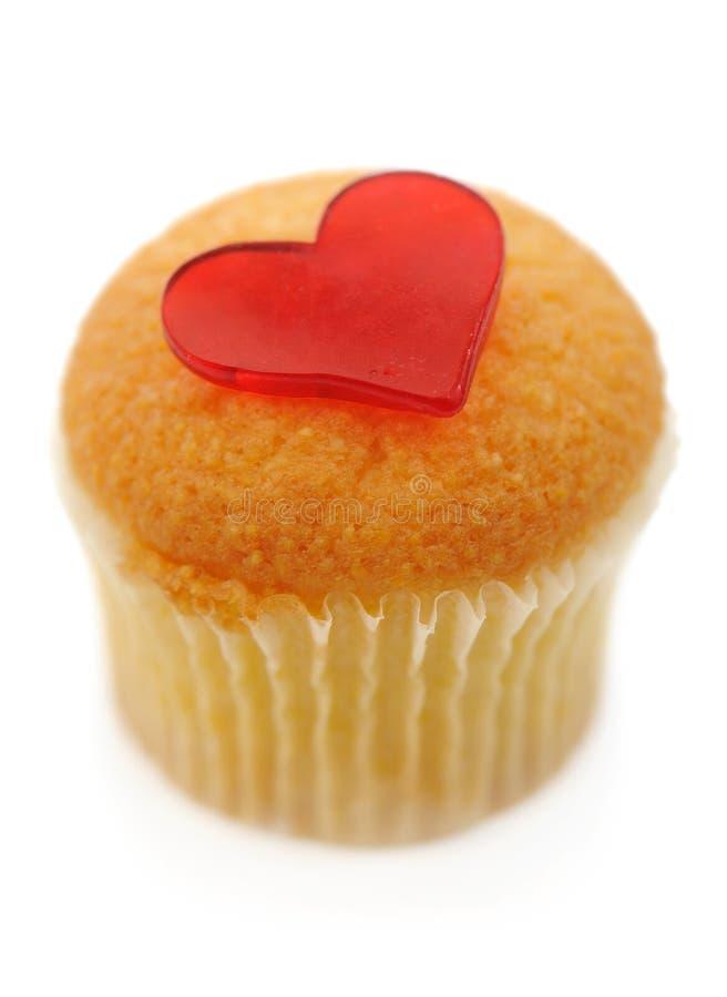 Muffin met hart royalty-vrije stock foto