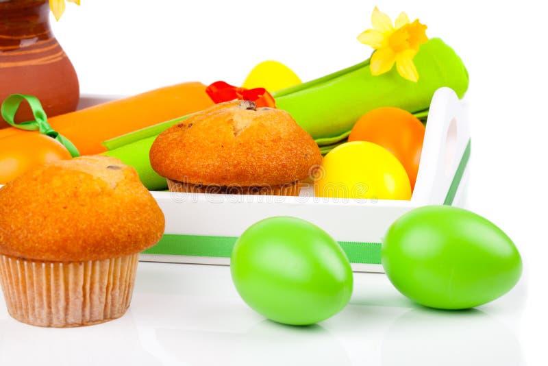 Download Muffin met Paaseieren stock foto. Afbeelding bestaande uit godsdienst - 29507392