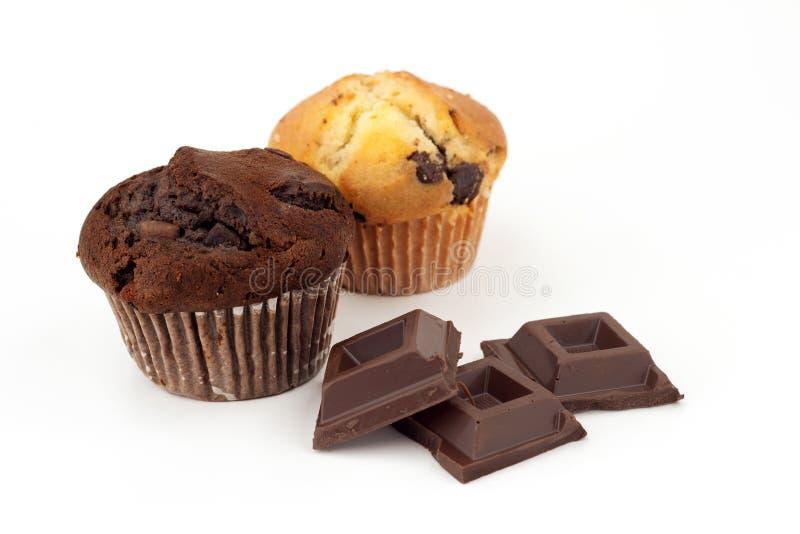 Muffin och choklad royaltyfria foton