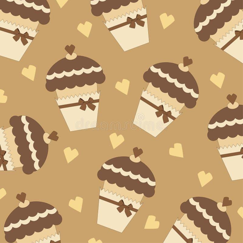Muffin Seamless Stock Photography