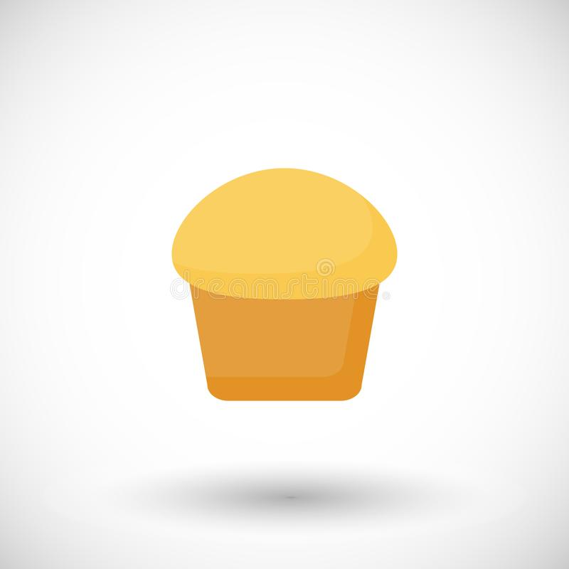 Muffin vector flat icon vector illustration