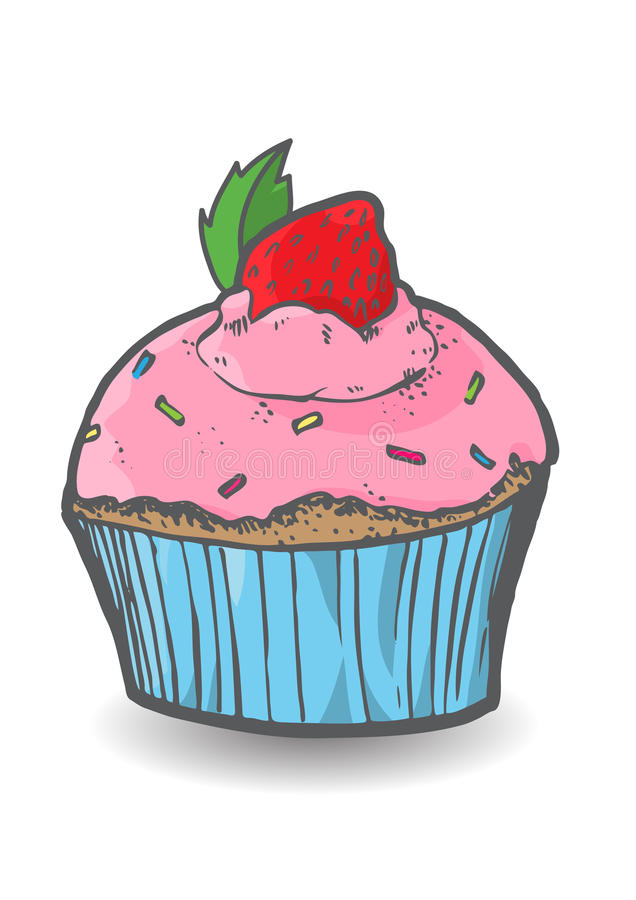 Download Muffin stock vector. Image of blue, food, strawberry - 31471573