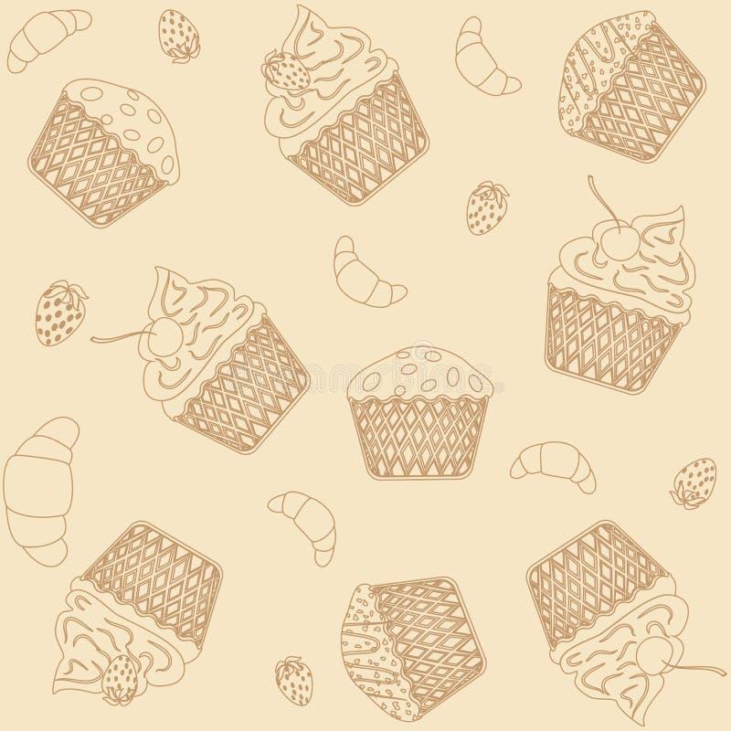 Muffinbakgrund arkivfoton