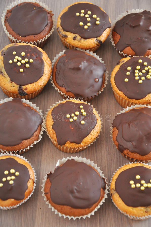 Muffinc шоколада стоковые изображения rf